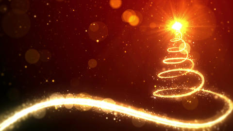 Christmas tree lights on red background with copy space for text placeholder Animation