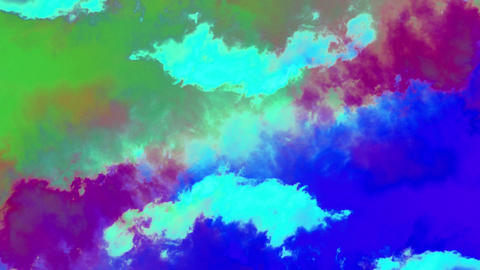 Colorful world clouds Live Action