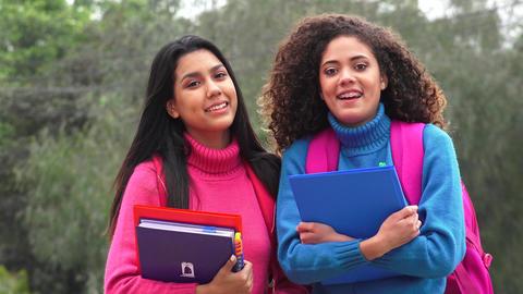 School Student Friends Teen Girls Live Action