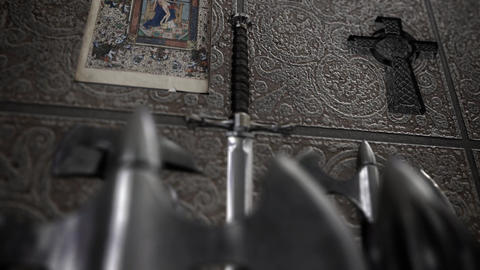 Medieval Weapon Inside a Church Archivo