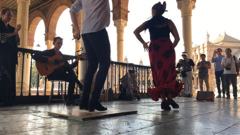 Group of flamenco dancers Footage
