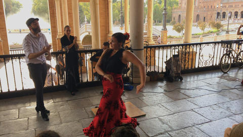 Group of flamenco dancers Footage