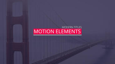 New Minimal Titles After Effects Template
