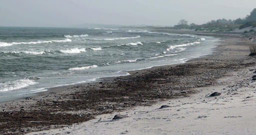 Surge of the Baltic Sea in Germany Image