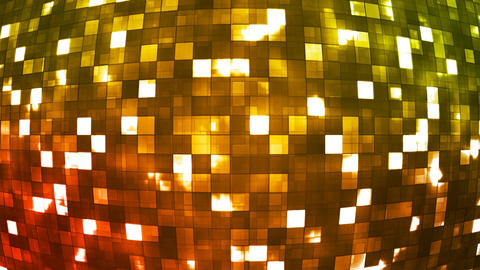 Broadcast Firey Light Hi-Tech Squares Globe, Multi Color, Abstract, Loopable, 4K Animation