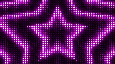 Lights Flashing Wall Vj Loop Star Glow Purple CG動画素材