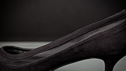 Black female high heeled shoe background concept Footage