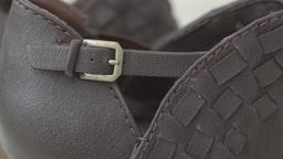 Ladies brown high heel boots HD stock footage Footage