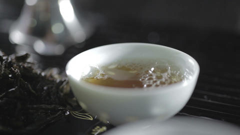 Pouring tea in a cup Footage
