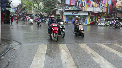 Vietnam, Hanoi - 07 March 2015: Traffic on the road Footage