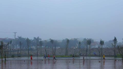 Hanoi, Vietnam - 13 March 2015: Street football in Asia Footage