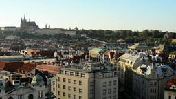 city (Prague) - urban buildings - roofs of buildings - Prague Castle (Hradcany)  Footage