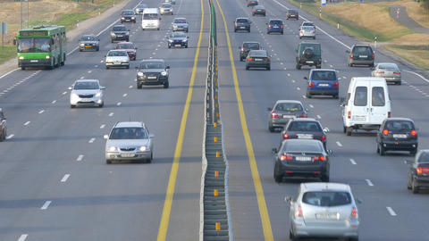 4K Ungraded: Highway Road / Highway Traffic / Highway Wide Shot Live Action