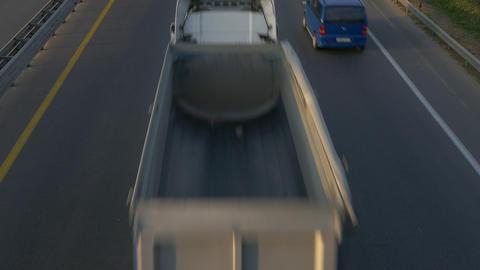 4K Ungraded: Trucks on Road / Dump Trucks / Industry Trucking Footage