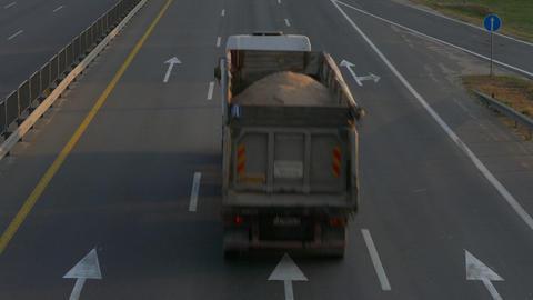 4K Ungraded: Trucks on Road / Dump Trucks / Industry Trucking Live Action