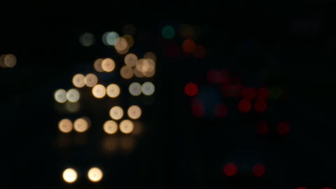 4K Ungraded: Bokeh Lights / Head Lights / Night Highway / Bokeh Background Live Action