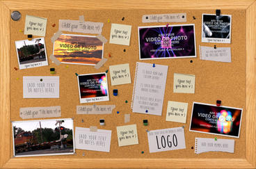 Bulletin Board Bash After Effects Template