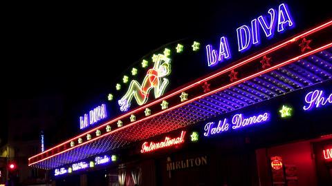 Nightclub in Paris. Night. France Footage