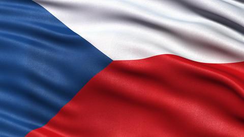 4K Czech Republic flag seamless loop Animation