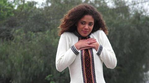 Latina Girl Romantic Hispanic Female Teen In Love Live Action
