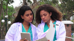 Young Female Nurses Or Doctors Live Action