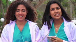 Young Female Nursing Students Talking Live Action