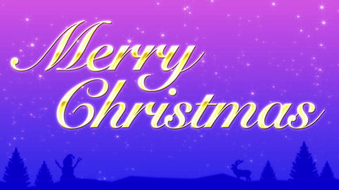 Merry Christmas CG動画素材