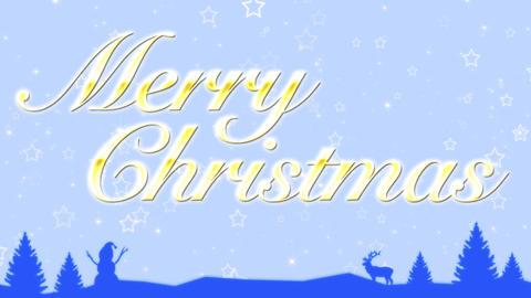 Merry Christmas, CG動画素材