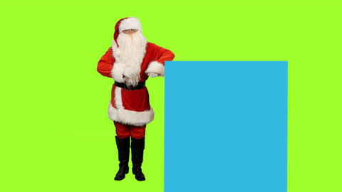 Santa Claus on green screen and blue screen for your text or animations ビデオ