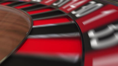 Casino roulette wheel hits zero Footage