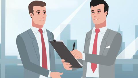 Cartoon Corporate / Businessmen are talking Animation