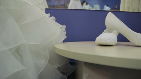Wedding shoes. Slider Footage