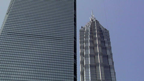 The Shanghai World Financial Center and the Jin Mao Tower, Pudong Footage