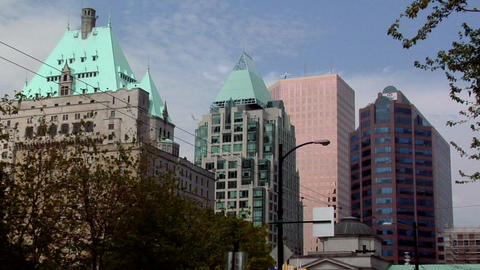 Buildings in Down Town Area Stock Video Footage