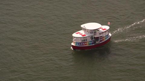 False Creek Harbour Tour Boat, Vancouver Live Action