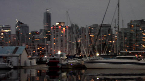 Yachts in the Coal Harbour, Vancouver Live Action