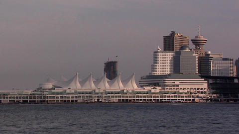 Canada Place late Afternoon Footage