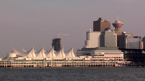Canada Place and the Skyline of Vancouver Footage