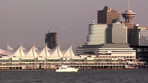 Canada Place and the Skyline of Vancouver Live Action