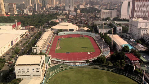 Rizal Memorial Stadium at Harrison Plaza, Malate, Manila, Philippines Live Action
