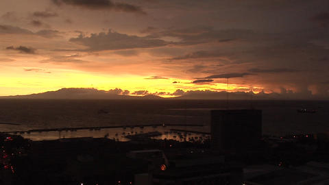 Sunset with Manila Bay, Philippines Live Action