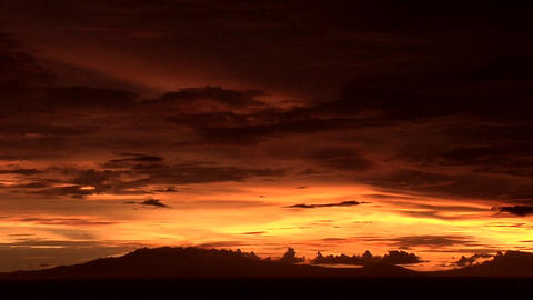Dramatic Sunset over Manila Bay, Philippines Footage