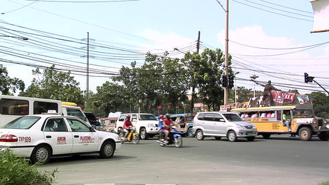 Traffic Scene near the Manila City Hall, Philippines Footage