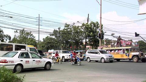 Traffic Scene near the Manila City Hall, Philippines Footage