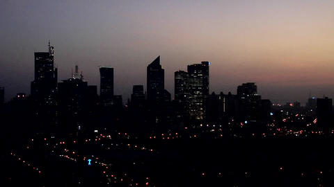 Makati Skyline At Dawn stock footage