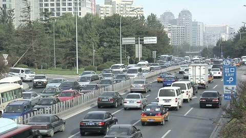 Afternoon Traffic on Chaoyangmen Daji Live Action