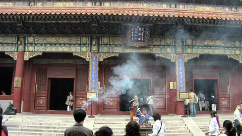 Inside the Tibetan Buddhist Lama Temple Live Action