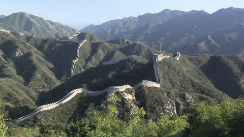 The Great Wall of China at Badaling Footage