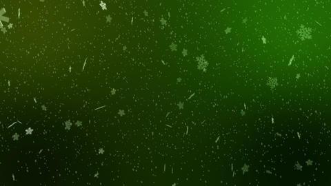 Snow - Snowflakes falling Background 4K - bright blue turqouise 2 Image