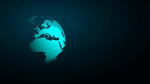 Abstract background with circulated dotted world globe Animation